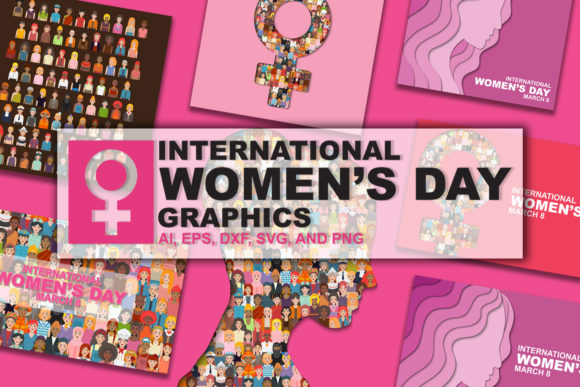 Print on Demand: International Womens Day Graphic Design Graphic Backgrounds By Bayu Baluwarta