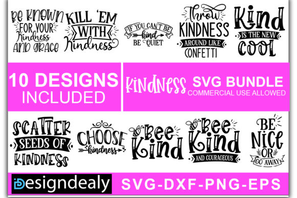 Download Free Kindness Bundle Vol 1 Graphic By Designdealy Com Creative Fabrica for Cricut Explore, Silhouette and other cutting machines.