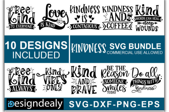 Print on Demand: Kideness SVG Bundle Vol-2 Grafik Druck-Templates von Designdealy.com