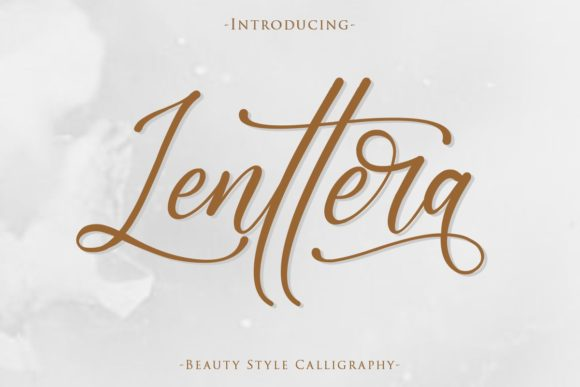 Print on Demand: Lenttera Script & Handwritten Font By Gilar Studio