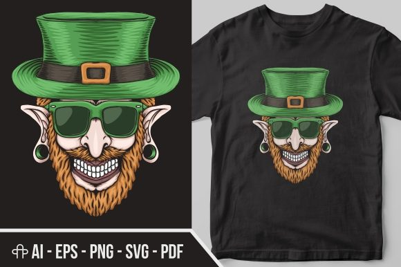 Print on Demand: Leprechaun Piercing St. Patrick's Day Graphic Illustrations By Andypp