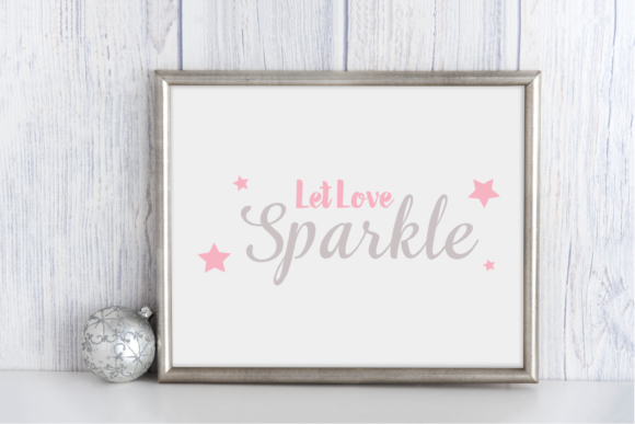 Print on Demand: Let Love Sparkle Beautiful Design Graphic Print Templates By Angela Wheeland