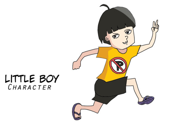 Download Free Little Boy Characters Vector Art Graphic By Evand Creative Fabrica for Cricut Explore, Silhouette and other cutting machines.