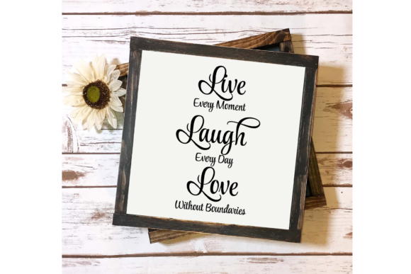 Download Free Live Laugh Love Family Quote Svg Cricut Graphic By Am Digital for Cricut Explore, Silhouette and other cutting machines.