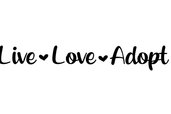 Live Love Adopt With Hearts Svg Graphic Graphic By Am Digital
