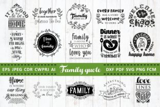 Print on Demand: Love Family Quotes Bundle Vol. 2 Graphic Crafts By millerzoa
