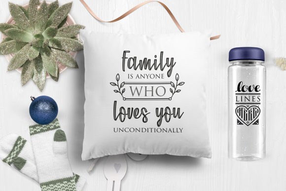 Print on Demand: Love Family Quotes. SVG Bundle. Vol. 2 Graphic Crafts By millerzoa - Image 10