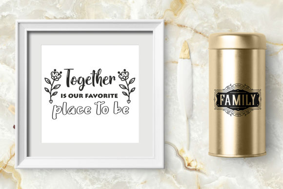 Print on Demand: Love Family Quotes. SVG Bundle. Vol. 2 Graphic Crafts By millerzoa - Image 13
