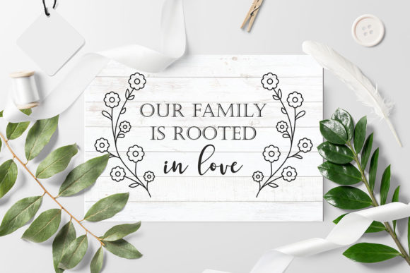 Print on Demand: Love Family Quotes. SVG Bundle. Vol. 2 Graphic Crafts By millerzoa - Image 4
