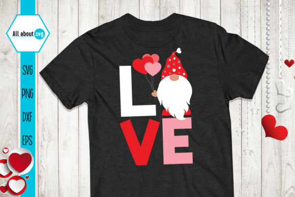 Download Free Love Gnome Valentine S Gnome Graphic By All About Svg Creative Fabrica for Cricut Explore, Silhouette and other cutting machines.