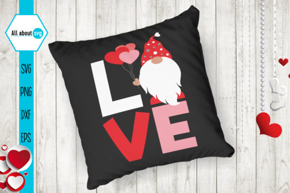 Download Love Gnome Svg, Valentines Gnome Svg (Graphic) by All ...