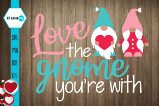 Download Free Love Gnome Valentines Gnome Graphic By All About Svg Creative for Cricut Explore, Silhouette and other cutting machines.