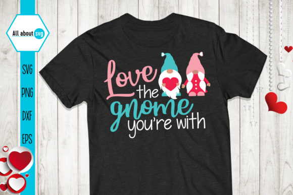 Love Gnome, Valentines Svg, Gnome Svg Graphic Crafts By All About Svg - Image 2