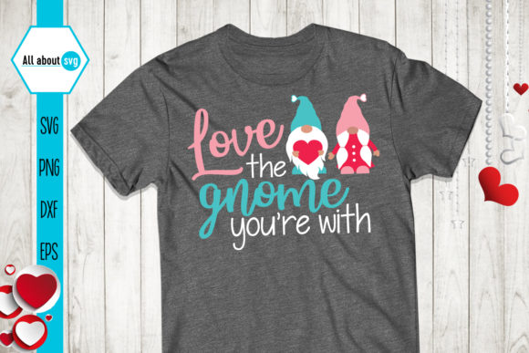Love Gnome, Valentines Svg, Gnome Svg Graphic Crafts By All About Svg - Image 3