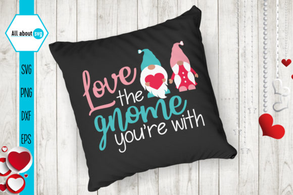 Love Gnome, Valentines Svg, Gnome Svg Graphic Crafts By All About Svg - Image 4