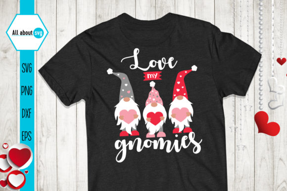 Love My Gnomies, Valentines Gnomies Svg Graphic Crafts By All About Svg - Image 2