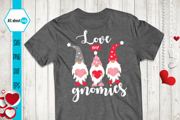 Love My Gnomies, Valentines Gnomies Svg Graphic Crafts By All About Svg - Image 3