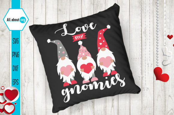 Love My Gnomies, Valentines Gnomies Svg Graphic Crafts By All About Svg - Image 4