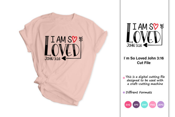 Print on Demand: Loved John 3:16 Red Plaid Heart Graphic Crafts By iprintasty
