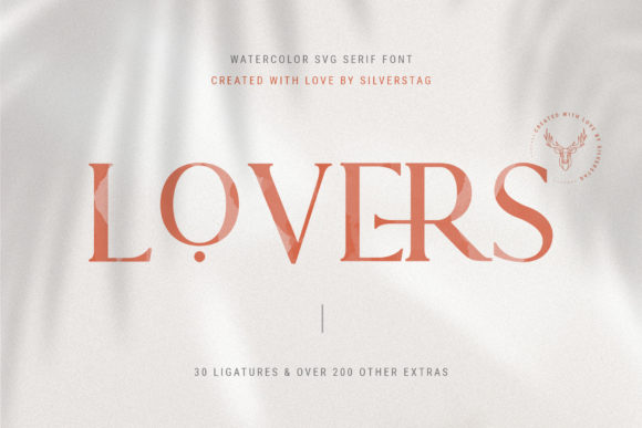 Print on Demand: Lovers Serif Font By SilverStag