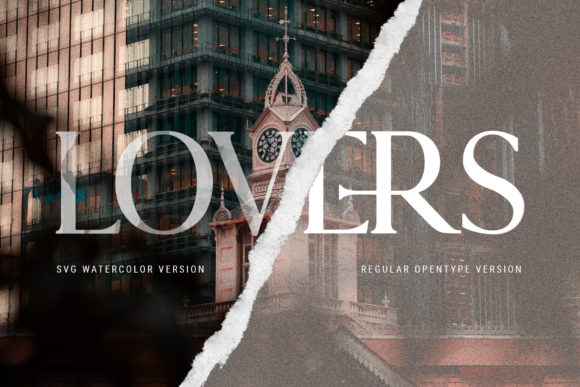 Print on Demand: Lovers Serif Font By SilverStag - Image 5