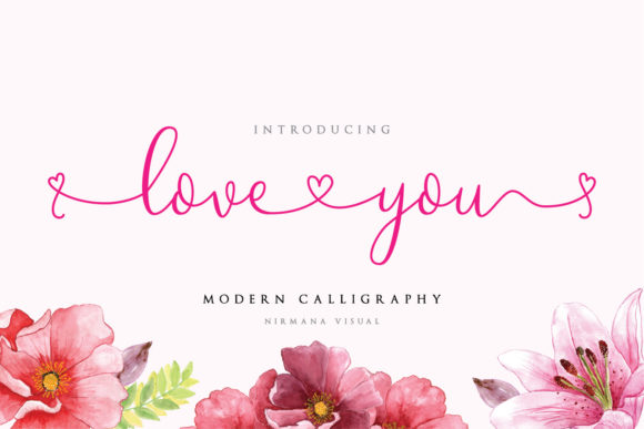 Print on Demand: Loveyou Script & Handwritten Font By Sigit Dwipa
