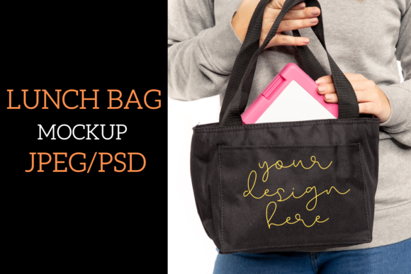 Print on Demand: Lunch Bag Mock Up - JPEG/PSD|1000X1500px Graphic Product Mockups By Mockup Venue