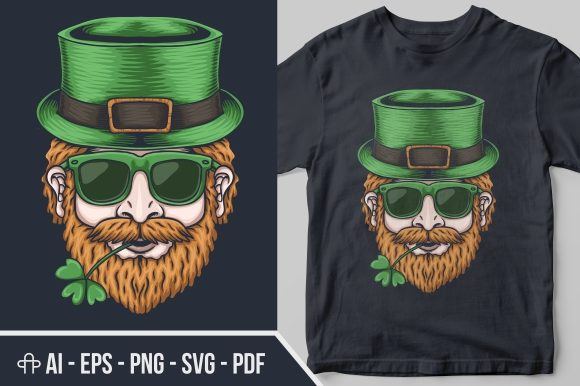 Man Head St. Patrick's Day Graphic Illustrations By Andypp