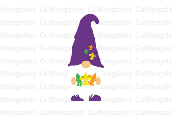 Mardi Gras Gnome SVG Graphic Crafts By cutfilesgallery