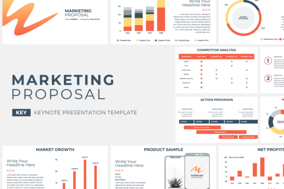 Download Free Marketing Proposal Keynote Template Graphic By Jetztemplates for Cricut Explore, Silhouette and other cutting machines.