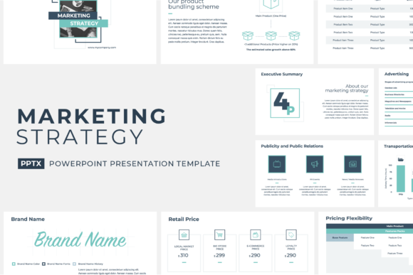 Marketing Strategy PowerPoint Template Graphic Presentation Templates By JetzTemplates