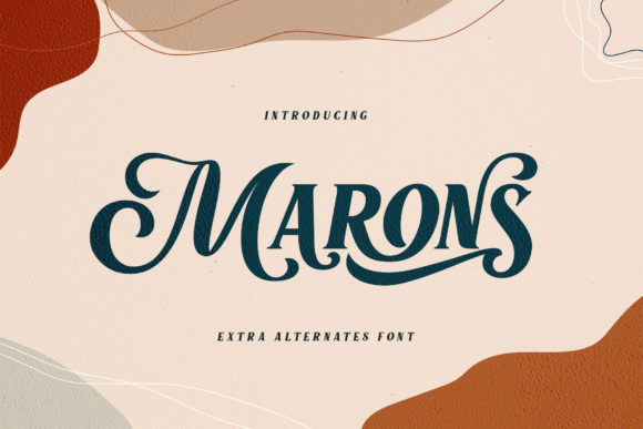 Print on Demand: Marons Display Font By Alit Design