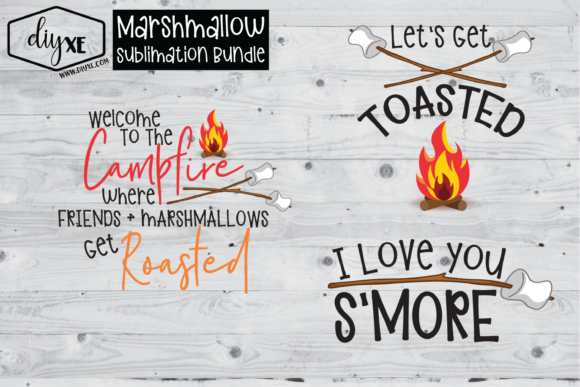 Marshmallow Sublimation Bundle Graphic Illustrations By Sheryl Holst