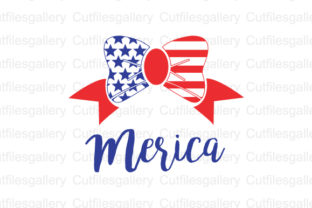 Download Free Merica Bow 4th Of July Graphic By Cutfilesgallery Creative for Cricut Explore, Silhouette and other cutting machines.
