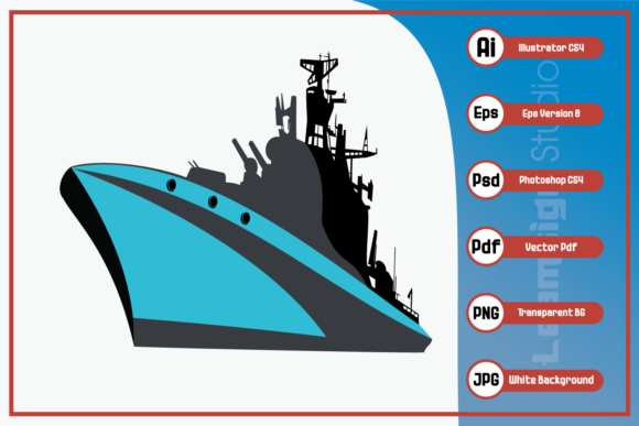 Print on Demand: Military Ship Design Graphic Icons By leamsign