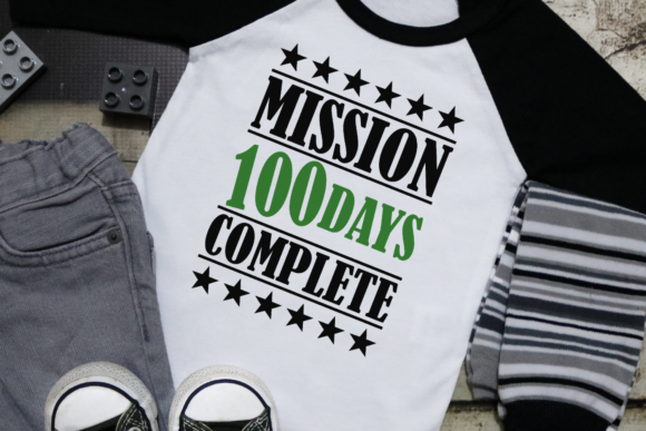 Download Free Mission Complete 100 Days Grafico Por Morgan Day Designs for Cricut Explore, Silhouette and other cutting machines.