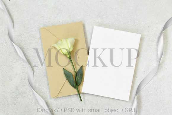 Download Free Mockup Card With Envelope Free Bonus Graphic By Pawmockup Creative Fabrica for Cricut Explore, Silhouette and other cutting machines.