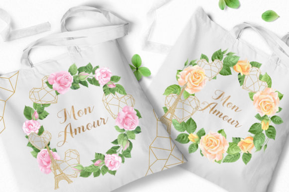 Print on Demand: Mon Amour Watercolor Collection Graphic Illustrations By Nata Art Graphic - Image 10