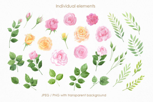Print on Demand: Mon Amour Watercolor Collection Graphic Illustrations By Nata Art Graphic - Image 14