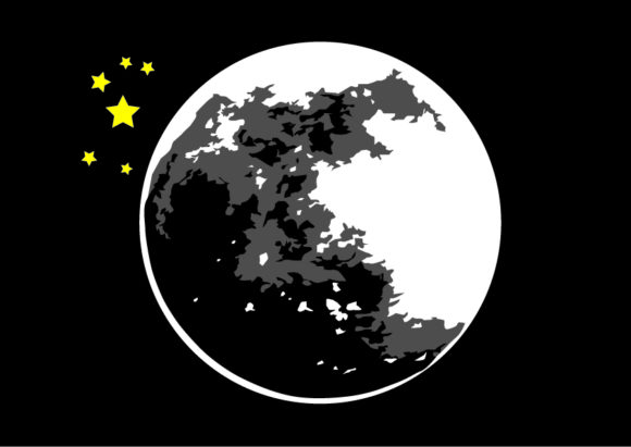 Moon Vector Graphic Illustrations By Evand