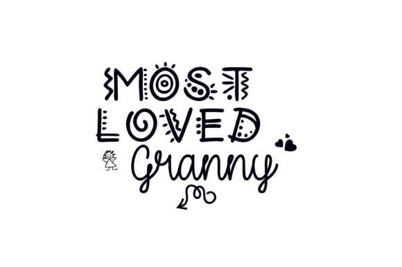 Download Free Most Loved Granny Fun Font Graphic Svg Graphic By Am Digital for Cricut Explore, Silhouette and other cutting machines.