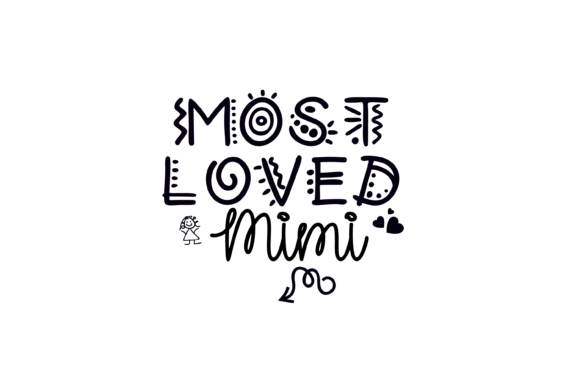 Print on Demand: Most Loved Mimi Fun Font Graphic SVG Graphic Print Templates By AM Digital Designs