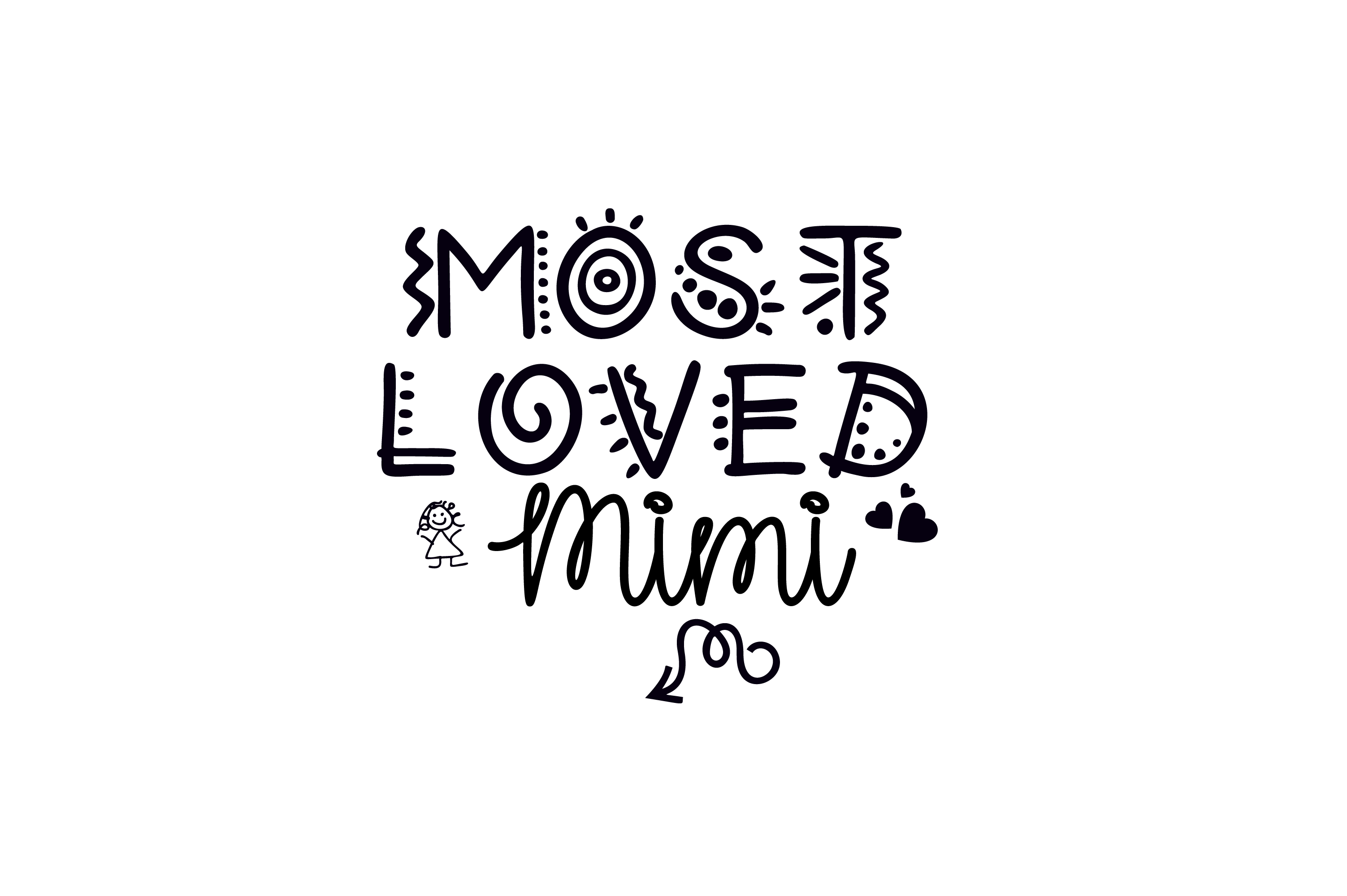 Download Free Most Loved Mimi Fun Font Graphic Svg Graphic By Am Digital for Cricut Explore, Silhouette and other cutting machines.