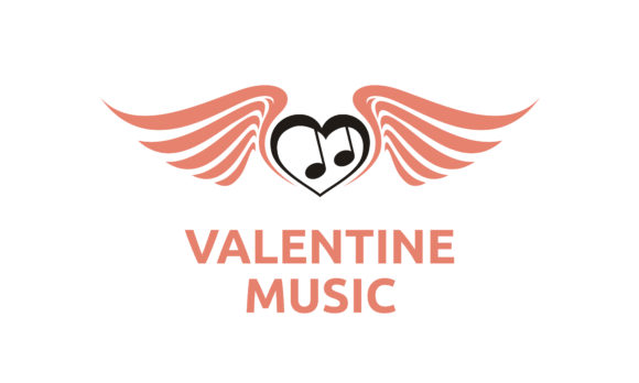 Download Free Music Notes Wings Heart Love Song Logo Graphic By Enola99d for Cricut Explore, Silhouette and other cutting machines.