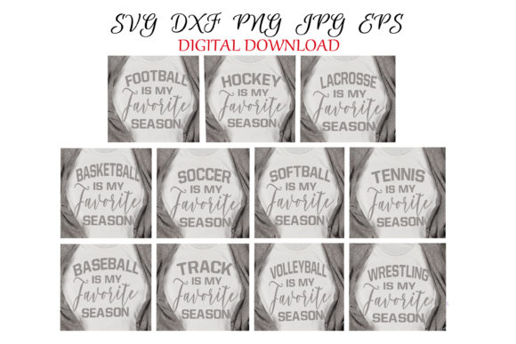 Download Free My Favorite Sport Seasons Svg Bundle Graphic By Shannon Casper for Cricut Explore, Silhouette and other cutting machines.