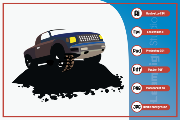 Print on Demand: Offroad Vehicle Logo Design Graphic Icons By leamsign