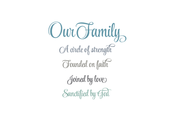 Download Free Our Family A Circle Of Strength Quote Graphic By Am Digital for Cricut Explore, Silhouette and other cutting machines.