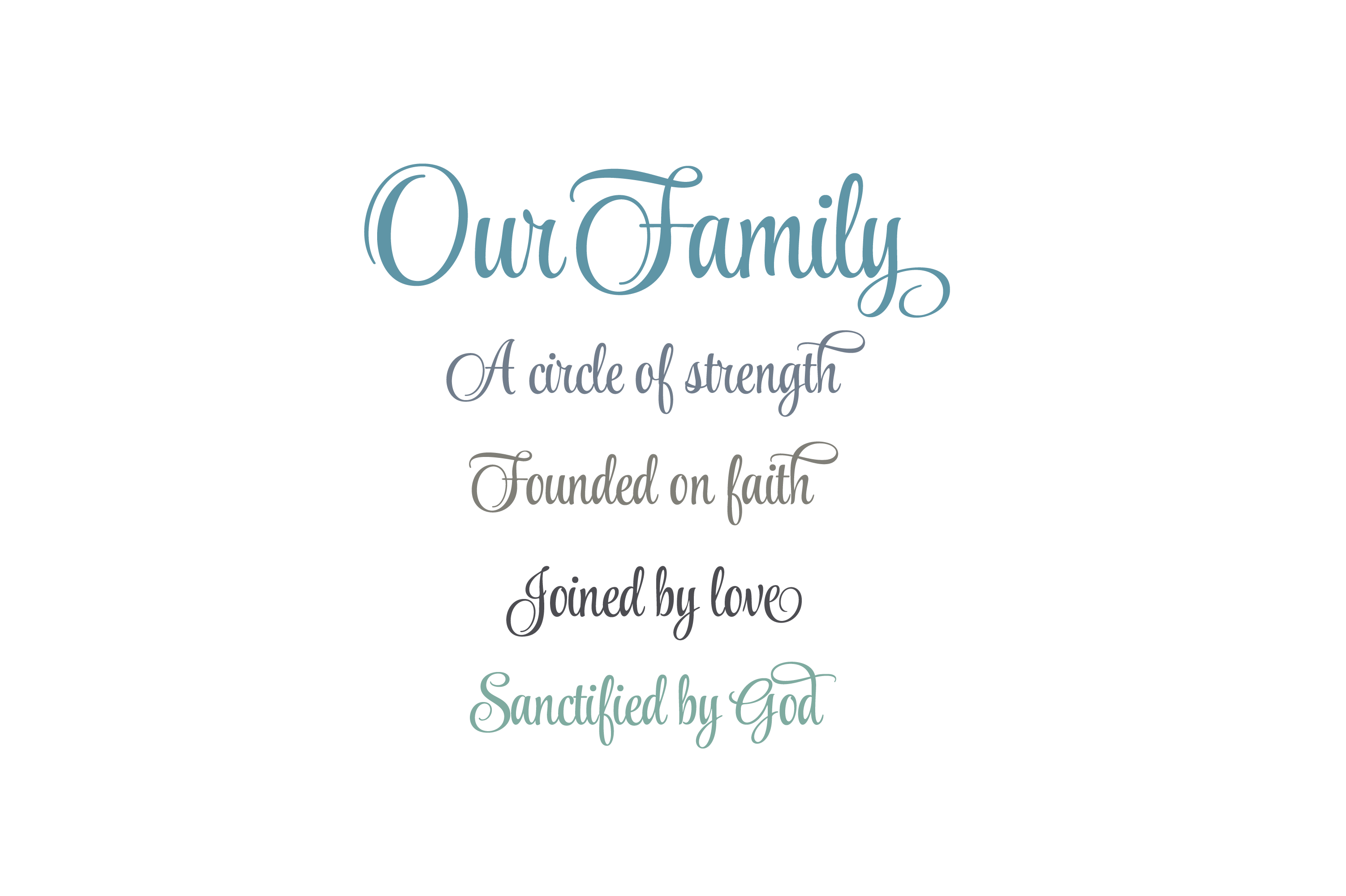 Download Free Our Family A Circle Of Strength Quote Graphic By Am Digital SVG Cut Files