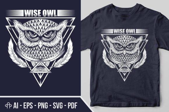 Download Free Owl Illuminati Illustration Graphic By Andypp Creative Fabrica for Cricut Explore, Silhouette and other cutting machines.