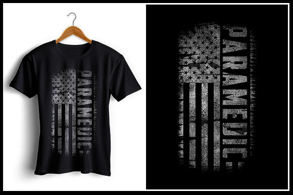 Download Free Paramedic Usa Flag T Shirt Design Grafico Por Zaibbb for Cricut Explore, Silhouette and other cutting machines.